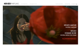 KENZO PARFUMS, Site institutionnel